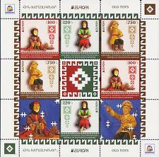 NEW NEWS EUROPA 2015 OLD TOYS NAGORNO KARABAKH ARMENIA COMBI SHEET MNH R15521da