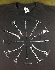 True Vintage 90s Highlander TV Show Official Merchandise MacLeod Swords T-Shirt