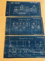 Pennsylvania Railroad Train Tank Car TM12 Test Weight Car Blueprints Class YC YB