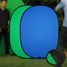 Green/Blue 2n1 Background Panel Popup Backdrop Reversible Collapsible Screen