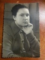Chubby GIRL Woman USSR Russian vintage Photograph Photo Snapshot