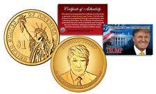 DONALD TRUMP Genuine 45th President PRESIDENTIAL DOLLAR $1 U.S. Coin GOLDEN-HUE