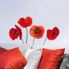 Wandsticker Wandtattoo rote Mohnblumen Mohn Blüten Blumen Aufkleber