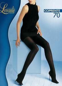 Levante Calze Coprente Soft Matt Tights Panty Cubriente Large Black 70 Denier
