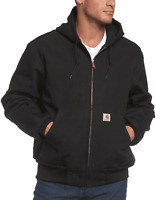 Carhartt Men's Thermal Lined Duck Active Jacket in Black Size XL H1102