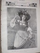 Printed photo actors Ethel Irving Fanny Dango 1903 ref W2