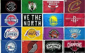 "Licensed TORONTO RAPTORS & NBA BASKETBALL TEAMS FLAG BANNER 3'X5', 36""X60"" - New"