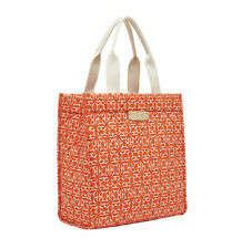 India Hicks RIVIERA Tote Bag Poppy Orange NWOT