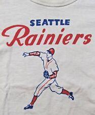 RARE original 1956 SEATTLE RAINIERS PCL baseball T-shirt small