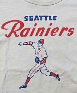 RARE original 1956 SEATTLE RAINIERS PCL baseball T-shirt small