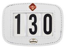 LeMieux Hamag Leather SADDLECLOTH Saddle Pad NUMBER HOLDER Display Black/White