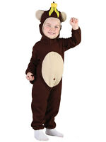 Girls Boys Cheeky Monkey Zoo Jungle Animal Fancy Dress Toddler Costume New