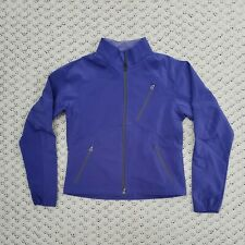 Ibex Climawool Softshell Women's Jacket Blue Purple Zip Hiking Outdoor Small S
