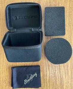 Breitling Watch Service Case Travel Box With Foam Cushion & Polishing Cloth