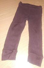 Baby Gap  girls' brown 100% cotton leggings, size 4