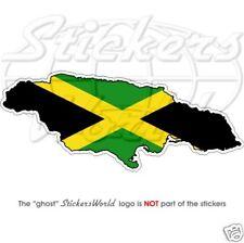 JAMAICA Jamaican Map-Flag - Vinyl Sticker, Bumper Decal