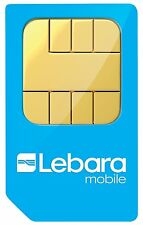 TARJETA PREPAGO LEBARA con 5 EUROS DE SALDO - NUMERO NUEVO PREPAGO