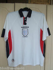 "England Home Shirt By Umbro 1997-1999  XXL 46"" Chest Football"