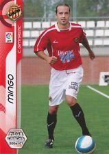 N°149 MINGO # CLUB GIMNASTIC CARD PANINI MEGACRACKS LIGA 2007