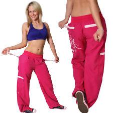 Dance Trousers Samba Print Fitness Sport Pants Cargo Low-rise Shocking Pink 36 S