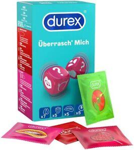 Durex Überrasch' Mich Kondome Mix - mit noppen, rippen & Geschmack - 22 Stück