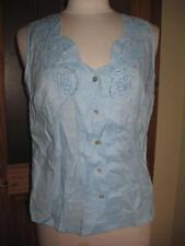 Women's Sleeveless Collarless Classic Tops & Shirts