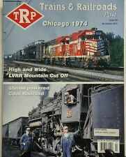 Trains & Railroads of the Past Issue 8 Chicago 1974 Coal Power FREE SHIPPING sb
