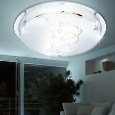 RGB LED Deckenleuchte Chrom Küchen Fernbedienung Spiegelglas