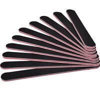 NE_ 10PCS Nail Art Black Sanding File Buffer For Salon Manicure Polisher Tool Si