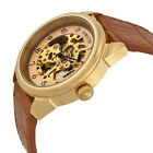 Invicta 17188 Men's Specialty Light Brown Leather Band Skeleton Gold Dial Watch