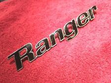 """- Nice Used 1970 Ford Ranger Nameplate Emblem 8 1/4"""" D0TB-9925632-C BlackAccents"""