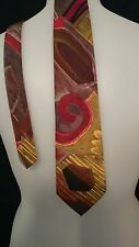 Glenora Men's Vintage Tie in a Multi-coloured Abstract Pattern