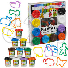 22PC DOUGH SET PLAY KIDS ART CRAFTS SHAPES GIFT TOY MODELLING TUBS CHILDRENS NEW