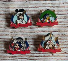 Disney Pin Set Of 4 July 4th 2000 Patriotic 3D Epcot Magic Kingdom Animal Mgm