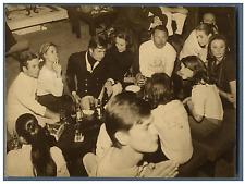 Marie-Gabrielle de Savoie, Marina Doria et Gunther Sachs Vintage silver print