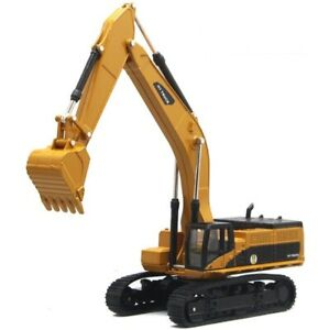 1:50 Alloy Diecast Excavator Model Car Vehicles Gifts Movable Simulation Yellow