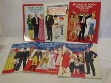 6 Paper Doll Books Tom Tierney Presidents Kennedy Nixon Eisenhower More