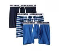 NWT Original Penguin. Sz L. Men' 3 Pack, Cotton Boxer Briefs. Multi  MSRP $39.50