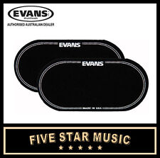 2 Pack EVANS EQPB2 BLACK NYLON DOUBLE KICK DRUM HEAD PATCH - NEW