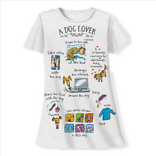 A Dog Lover Nightshirt Sleepshirt 100% Cotton