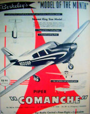"""Berkeley COMANCHE PLAN + PARTS PATTERNS to Build a 54"""" RC / UC Model Airplane"""