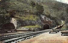 HOOSAC TUNNEL EAST PORTAL NORTH ADAMS MASSACHUSETTS TRAIN RELATED POSTCARD 1906