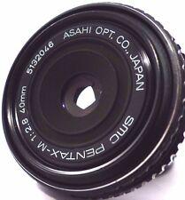 Pentax-M SMC 40mm f/2.8 Obiettivo Pancake PRIME. full-frame! PK (K-1/K-3/K-5/K-50.