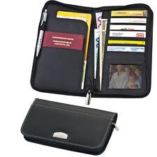 Reisemappe aus feinstem Bonded Leather (Lederfaserstoff) - Reiseetui
