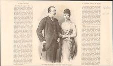 Portrait Count Five  Louise Princess Royal FRANCE GRAVURE ANTIQUE OLD PRINT 1889