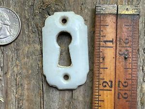 Antique white porcelain door key hole escutcheon cover