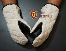 MEDIEVAL THICK PADDED COTTON ARMOR SCA LARP  GLOVES GAMBESON