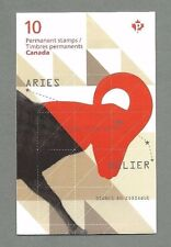 CANADA 2011 Booklet - ARIES Signs of the Zodiac - 10 x Permanent - Complete MNH