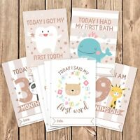 Baby Milestone Cards ~ 1st Year Memorable Moments Boy Girl Unisex Age