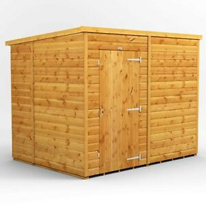 8x6 Power Pent Windowless Garden Shed | T&G | B GRADE SHED - AVAILABLE NOW